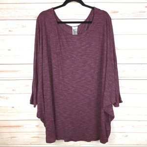 Free People Scoop Neck Oversized Knit Top Sz XS